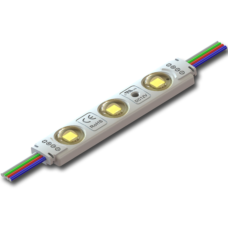 LED modul 3B1 RGB, 3x SMD5050, RGB 0,65W/12V, IP65, McLED