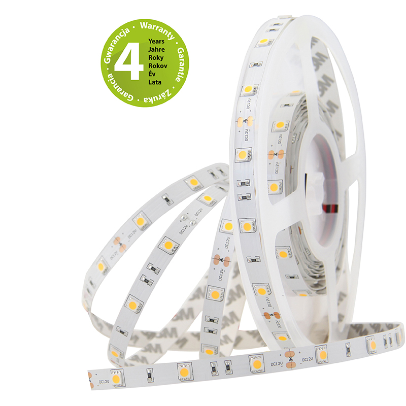 LED pásek SMD5050 teple bílá 10mm IP20 McLED 30 LED/metr, 7,2W/metr, DC 12 V, IP20