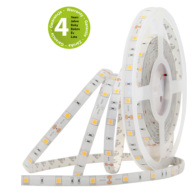 LED pásek SMD5050 teple bílá 10mm IP54 McLED 30 LED/metr, 7,2W/metr, DC 12 V, IP54