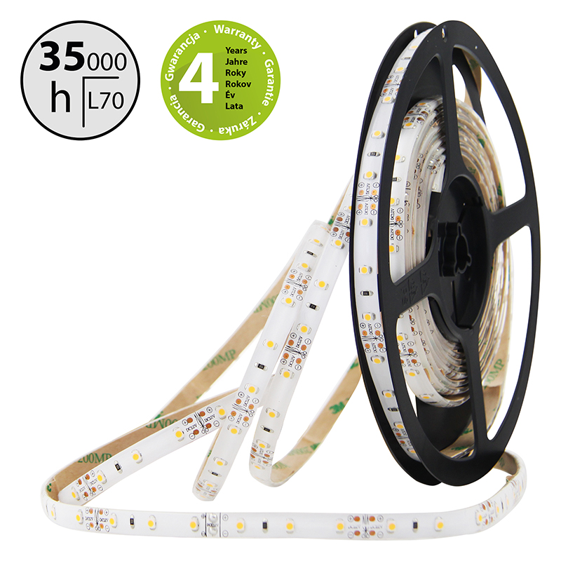 LED pásek SMD3528 zelená 8mm IP54 McLED 60 LED/metr, 4,8 W/metr, DC 12 V, IP54