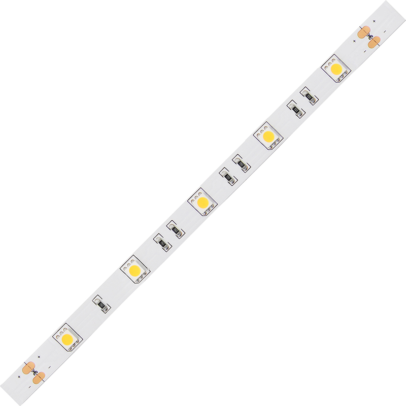 LED pásek SMD5050 teple bílá 10mm IP20 McLED 30 LED/metr, 7,2W/metr, DC 24 V, IP20