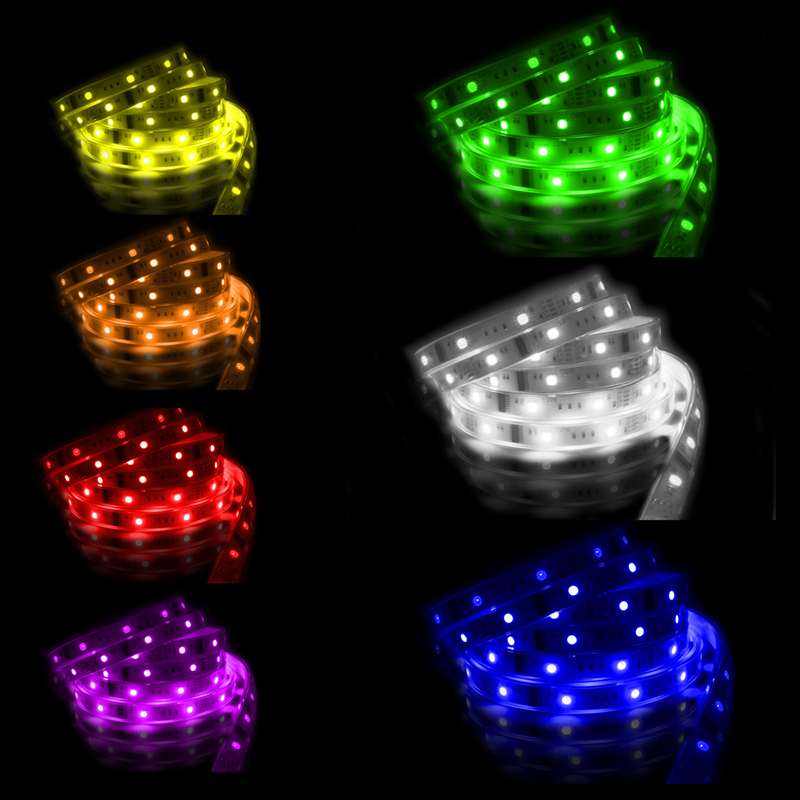 LED pásek SMD5050 RGB 1x5mm IP20 McLED 120 LED/metr, 28,8 W/metr, DC 24 V, IP20