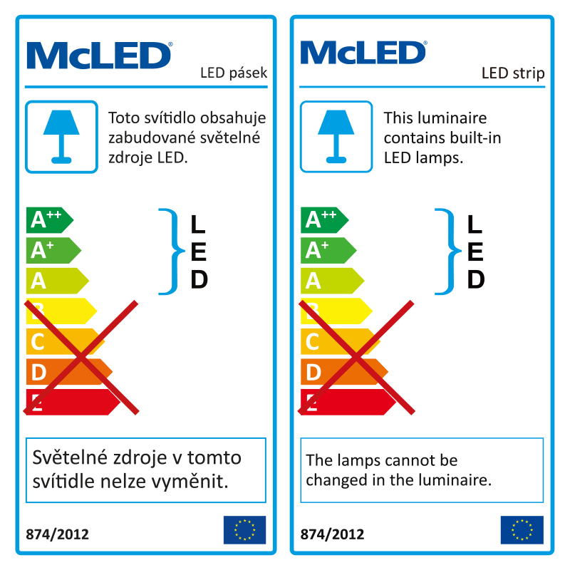 LED pásek SMD3528 studená bílá 8mm IP20, McLED 60 LED/metr, 4,8 W/metr, DC 24 V, IP20